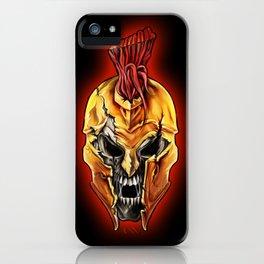 Evil Spartan Warrior Skull iPhone Case