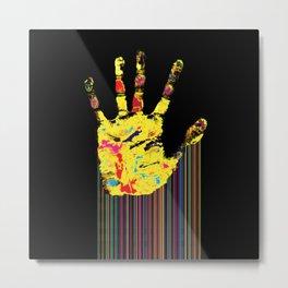 Barcode hand Metal Print