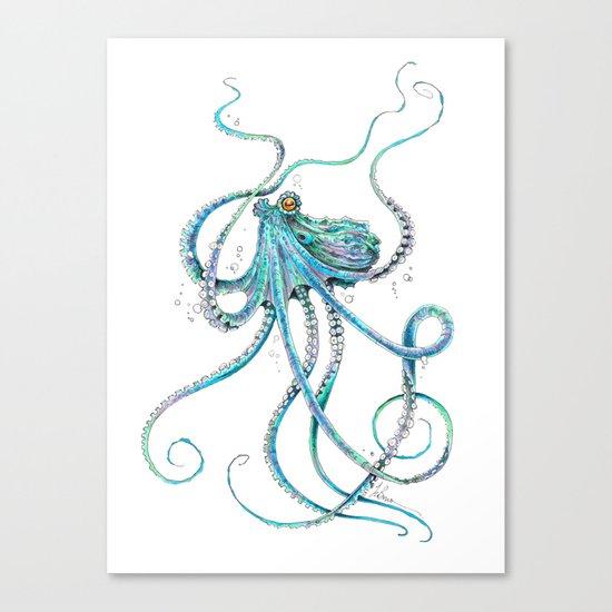 Drunk Octopus Canvas Print