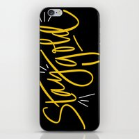 stay gold iPhone & iPod Skins featuring Stay Gold by Chelsea Herrick