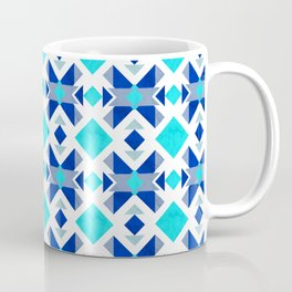 Morrocan blue tiles with marble texture Coffee Mug