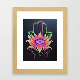 Hamsa Love Framed Art Print