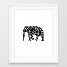 Elephant with giraffe print Framed Art Print