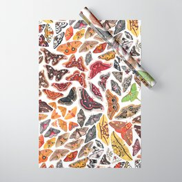 Saturniid Moths of North America Pattern Wrapping Paper