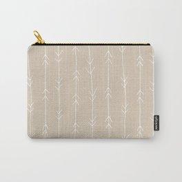 Arrow Pattern: Beige Carry-All Pouch