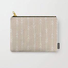 Arrow Pattern: Beige Carry-All Pouch