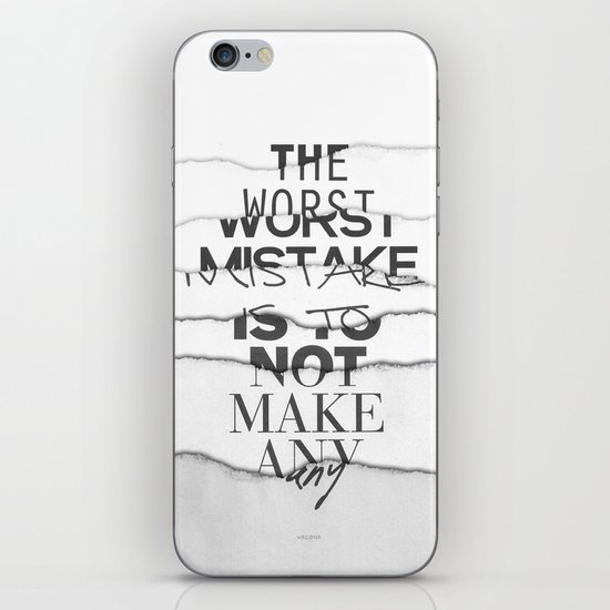 The Worst Mistake iPhone & iPod Skin