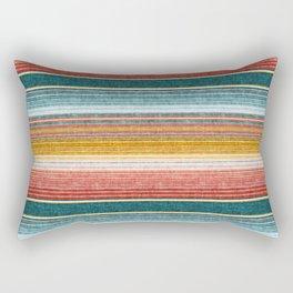 serape southwest stripe - orange & teal Rectangular Pillow