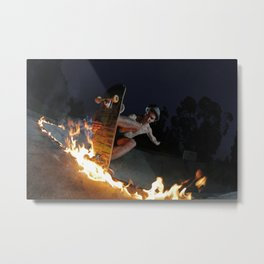 Fire in the mountain Metal Print