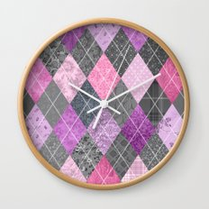 Magic Argyle Quilt Wall Clock