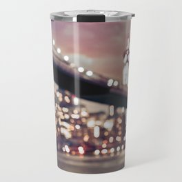 New York City Brooklyn Bridge Lights Travel Mug