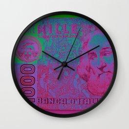 Lire 1000 Wall Clock