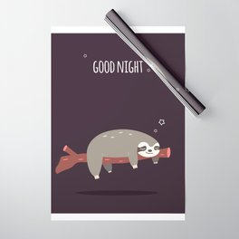 Sloth card - good night Wrapping Paper