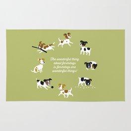 Farmdogs are wonderful things Rug