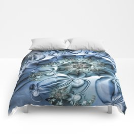 Dynamic Spiral, Abstract Fractal Art Comforters