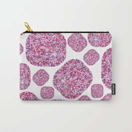 Pink Cushion Gem Pattern Carry-All Pouch