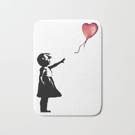 Banksy cosmic balloon Bath Mat