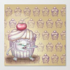 There is a Monster in my cupcake Canvas Print