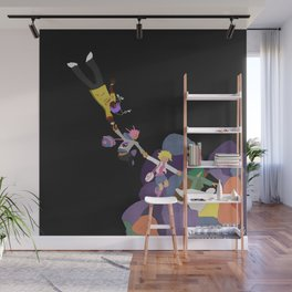 black the world Wall Mural