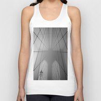 brooklyn bridge Tank Tops featuring Brooklyn Bridge by Gold Street Photography