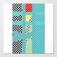 dots Canvas Prints featuring DOTS by  ECOLARTE