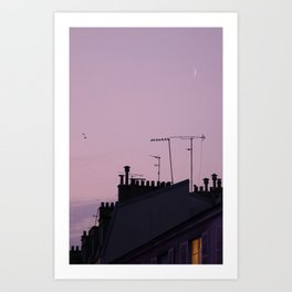 rooftop romance Art Print