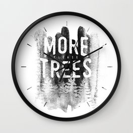 More trees Wall Clock