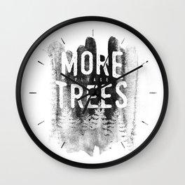 More trees Wall Clock