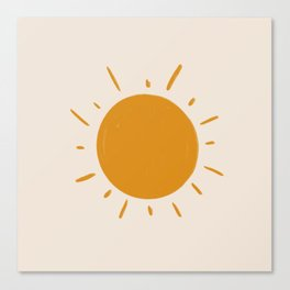 painted sun Canvas Print