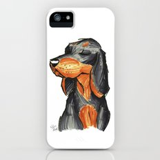 Brush Breeds-Black-and-Tan Coonhound iPhone (5, 5s) Slim Case