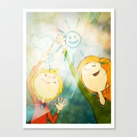friendship Canvas Prints featuring Friendship by Tatiana Obukhovich
