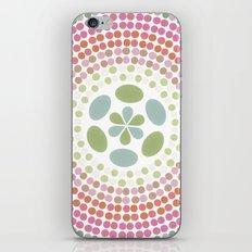 Retro floral circle 1 iPhone & iPod Skin