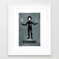 edward scissorhands Framed Art Prints featuring Edward Scissorhands by Steal This Art
