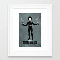 edward scissorhands Framed Art Prints featuring Edward Scissorhands by Brandon Day