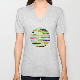 colorful abstract design Unisex V-Neck