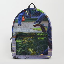 Flipping The Deck  -  Skateboarder Backpack