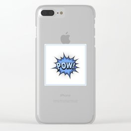 POW! Comic Book Clear iPhone Case
