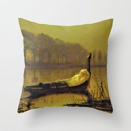 The Lady Of Shalott - Digital Remastered Edition Throw Pillow