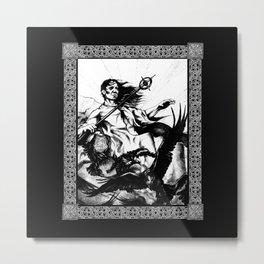 Druid and Crows Metal Print