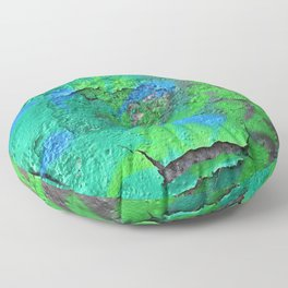 Green Entropy II Floor Pillow
