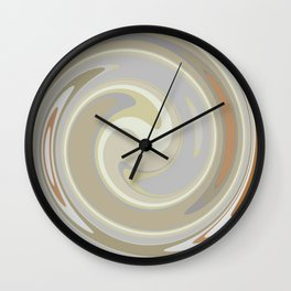 Distorted stripes in colour 3 Wall Clock