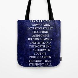 Boston 2 Tote Bag
