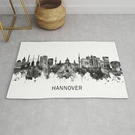 Hanover Germany Skyline BW Rug