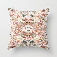 minerals Throw Pillows featuring Mystic Minerals 3 by Caroline Sansone