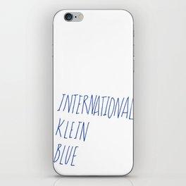 IKB iPhone Skin