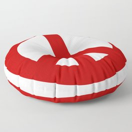 Red Peace Sign, Power of Peace, Power of Love, Social Justice Warrior, Super Sharp PNG Floor Pillow