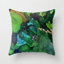 Beneath the Green Throw Pillow