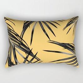 Black Palm Leaves Dream #6 #tropical #decor #art #society6 Rectangular Pillow