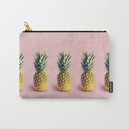 Pineapple on pink background Carry-All Pouch