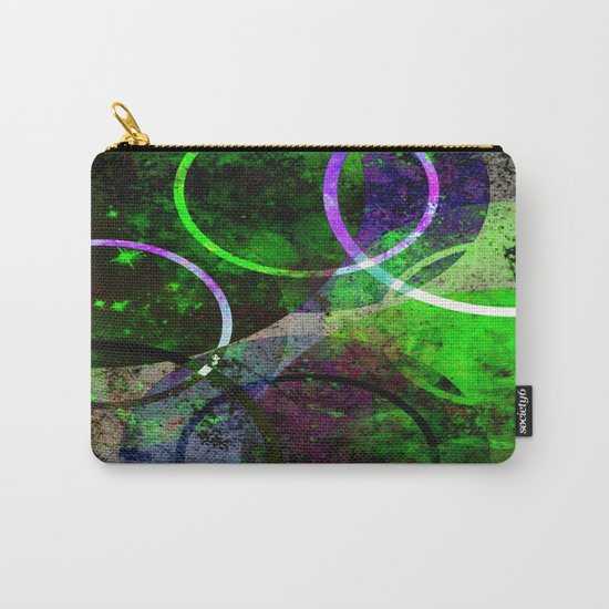 Other Dimensions - Abstract, geometric, textured, space themed artwork Carry-All Pouch